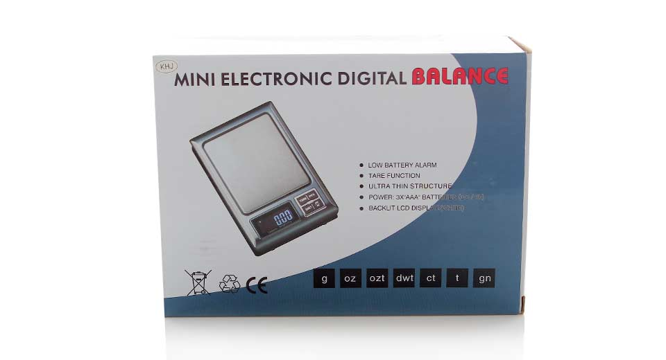 "1.8"" LCD Portable Digital Scale with Large Platform 500"