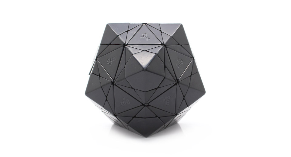 MF8 Icosahedron Magic Cube IQ Toy black / with stickers