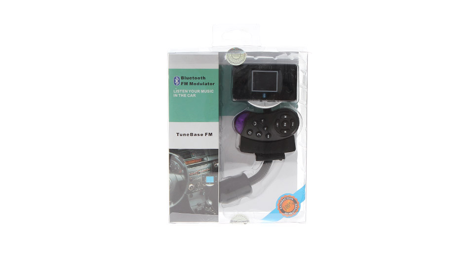 "Steering Wheel Mount Bluetooth Handsfree Car Kit + 1.5"" LCD MP3 Music Player FM Transmitter"