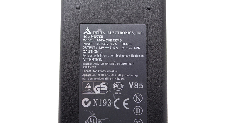 40W Replacement Power Supply AC Adapter w/ EU Plug Cord