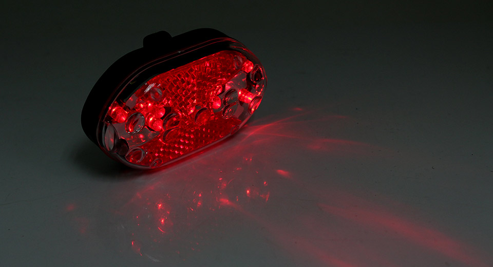 J-RT08 9-LED 7-Mode Safety Bike Tail Light w/ Mount 2*A