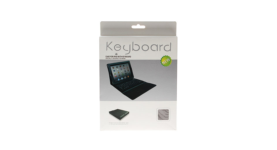 Bluetooth 3.0 Keyboard with Leather Protective Case for