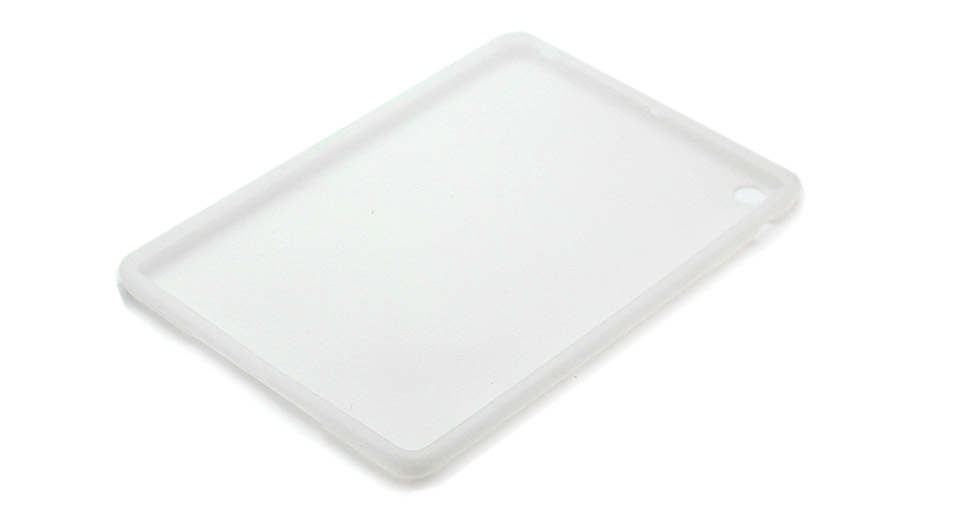 Protective Soft Silicone Back Case for iPad Mini (White