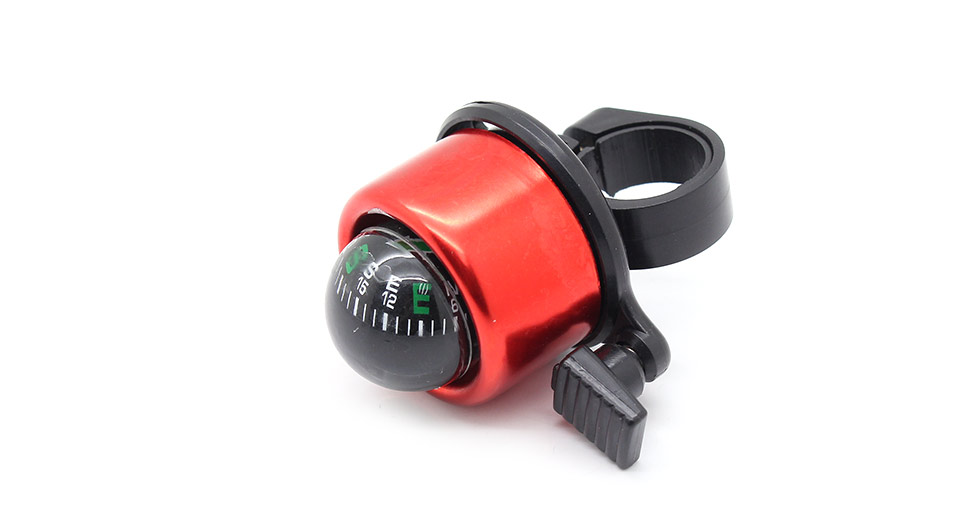 Bike Handlebar Mounted Bell with Compass red / fits 22m