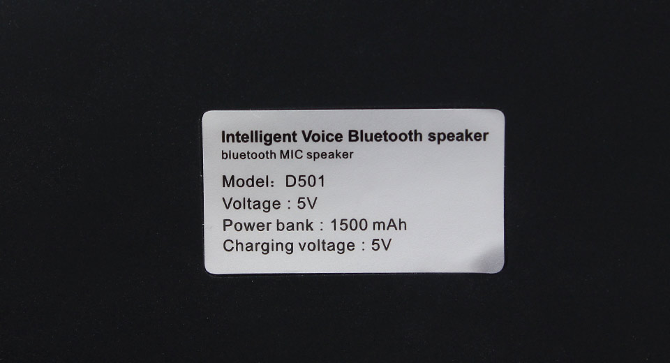 D501 Portable 3.5mm Jack Bluetooth Bass Speaker with An