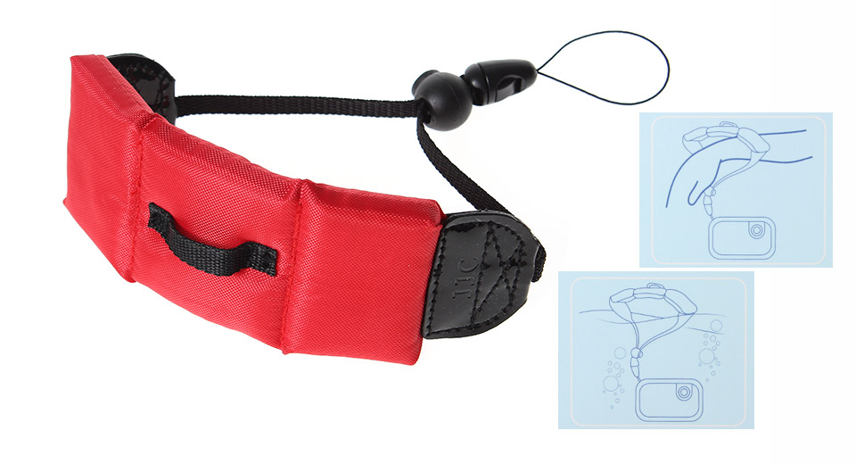 JJC Flexible Diving Wrist Strap for Camera red