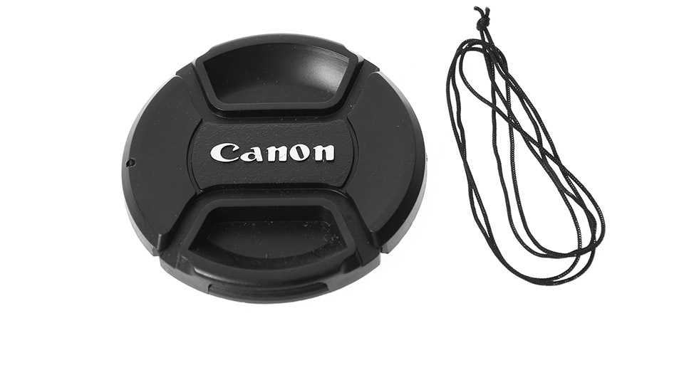 LVSHI 62mm Lens Cover for Canon Digital Cameras w/ stra
