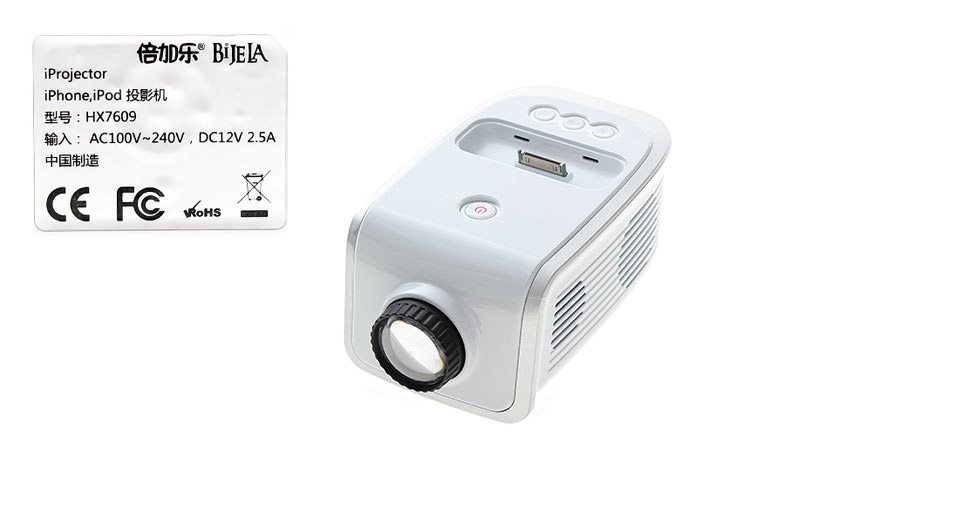 EP1001 Portable Projector for iPhone / iPod white / US