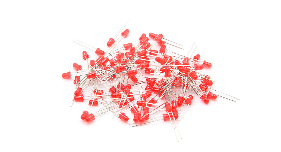 Product Image: 3mm-red-led-light-emitting-diodes-100-pack