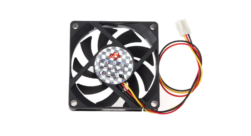 3-Pin Computer Case Cooling Fan 0.18A / DC 12V