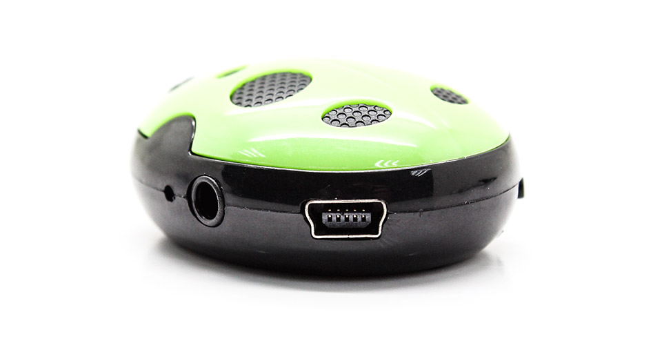 USB Rechargeable Beetle Style Mini MP3 Player green / m