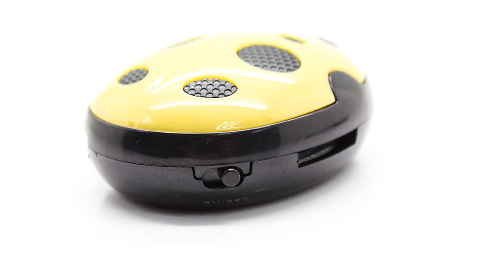 USB Rechargeable Beetle Style Mini MP3 Player yellow /