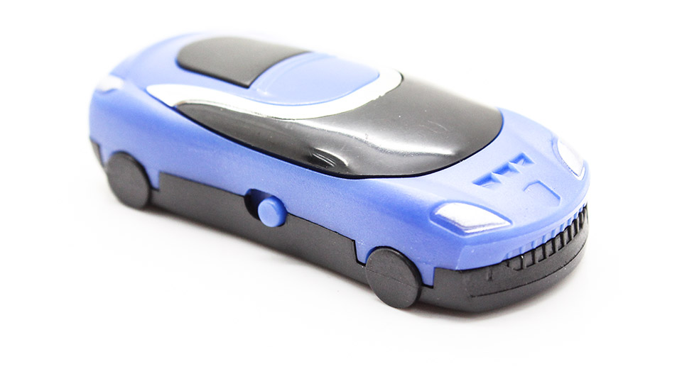 USB Rechargeable Car Style Mini MP3 Player blue / micro