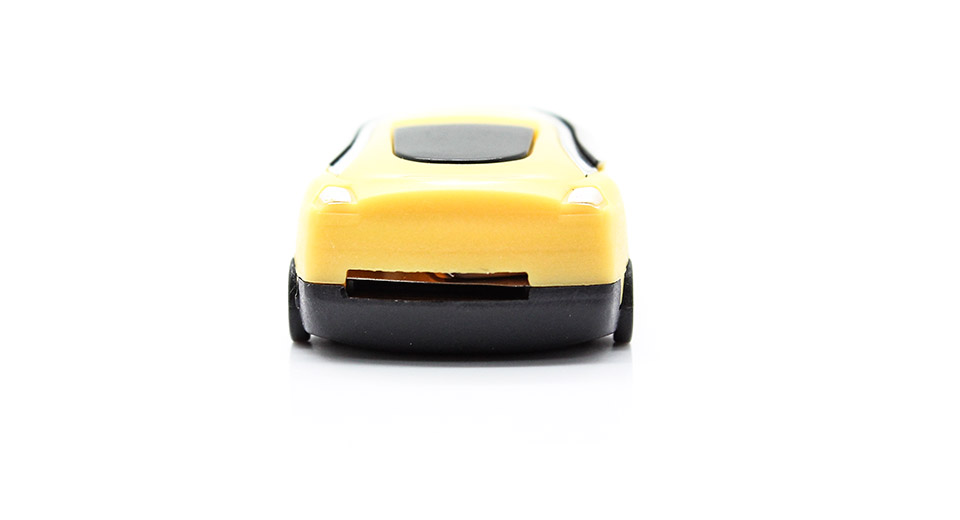 USB Rechargeable Car Style Mini MP3 Player yellow / mic