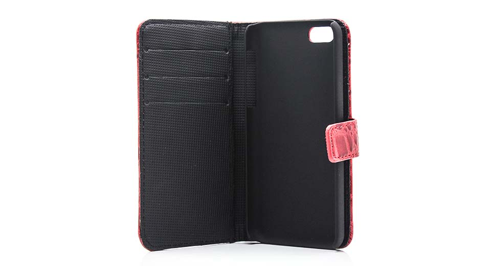 Protective PU + TPU Flip-open Case w/ Card Holder for i
