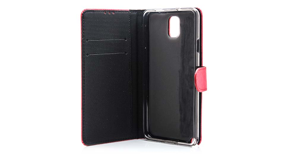 Protective PU + TPU Flip-open Case w/ Card Holder for S