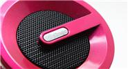 F61 Rechargeable Mini Speaker w/ FM Transmitter (Fushcia)