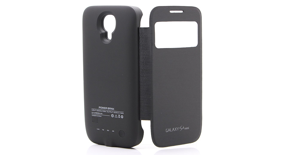 big sale 0531b 870a3 $16.69 3000mAh Rechargeable External Battery Flip-open Case for Samsung  Galaxy S4 Mini at FastTech - Worldwide Free Shipping