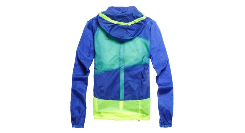 ARSUXEO Ultra Thin Outdoor Running Nylon Jacket blue +