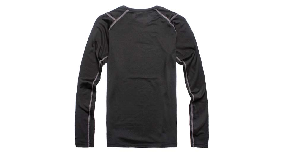 ARSUXEO Oudoor Sports Quick-Dry Tights Shirt black / L
