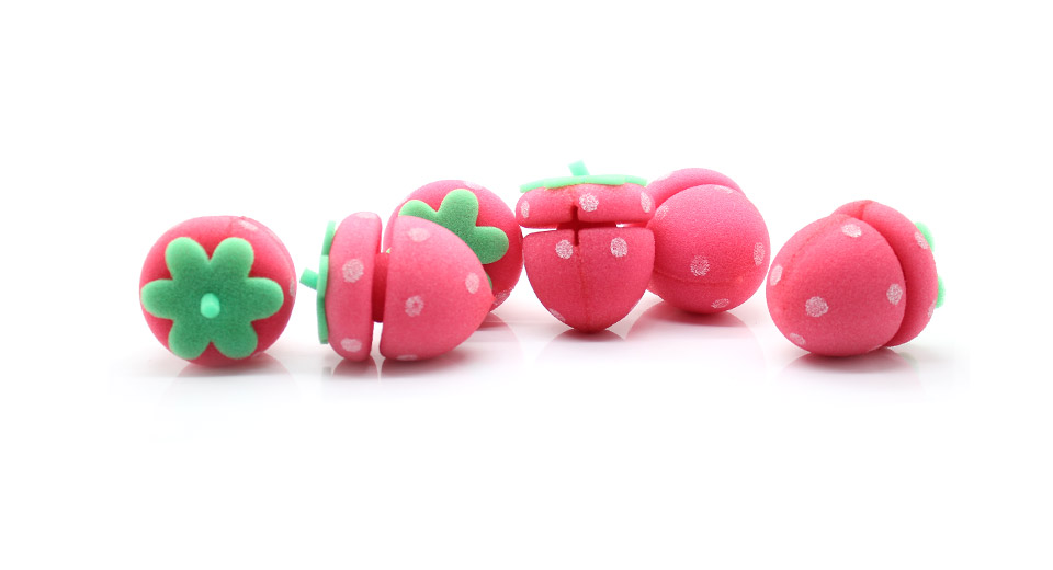 Product Image: cute-strawberry-style-hair-curler-balls-6-piece