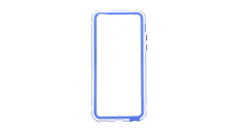 Protective PVC Bumper Frame Case for iPhone 5c blue