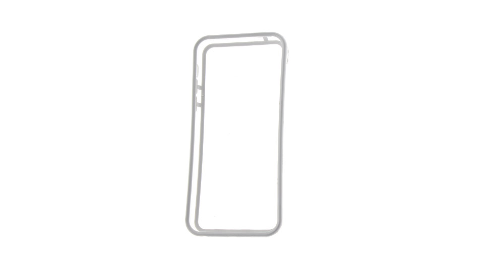 Protective PVC Bumper Frame Case for iPhone 5c white