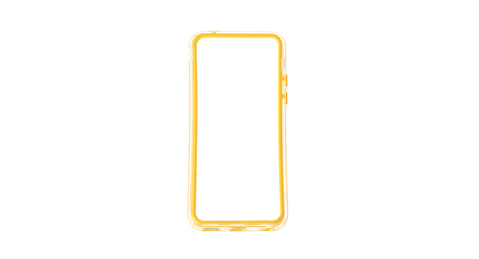 Protective PVC Bumper Frame Case for iPhone 5c yellow