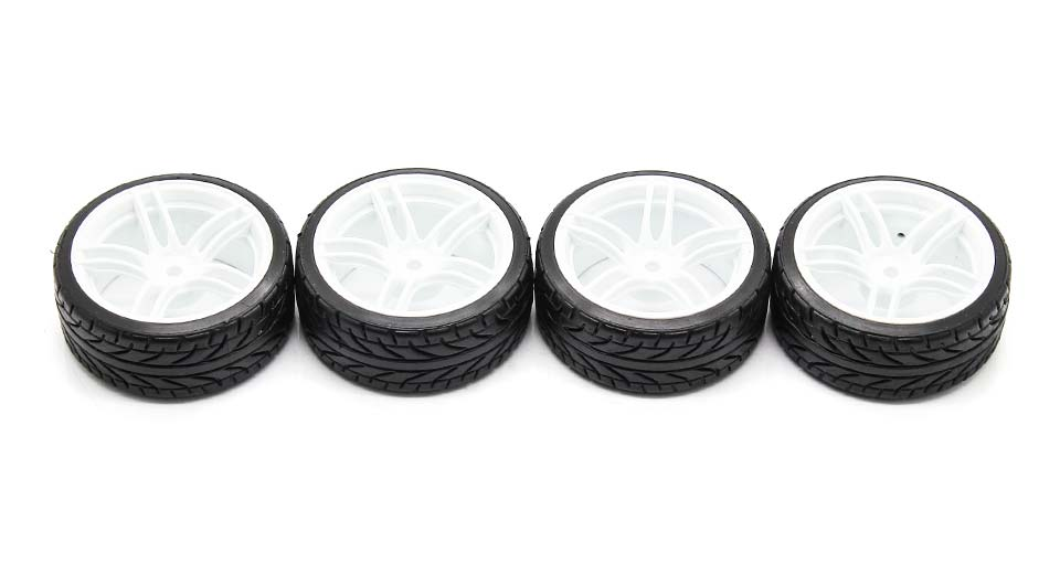 9064-9015 Rubber + Plastic Tyres for 1:10 R/C On-Road C