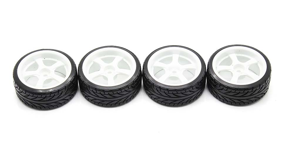 1020-9015 Rubber + Plastic Tyres for 1:10 R/C On-Road C
