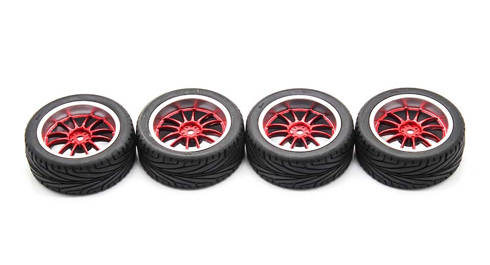 9048-8010 Rubber + Plastic Tyres for 1:10 R/C On-Road C