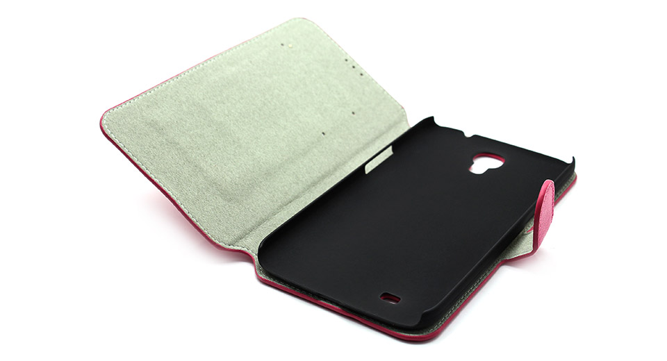 Protective PU + PVC Flip-Open Leather Case for Samsung