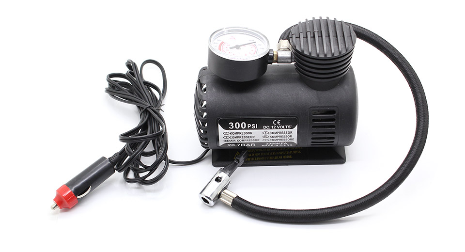 12V 10A Electric Air Compressor w/ Car Cigarette Lighte