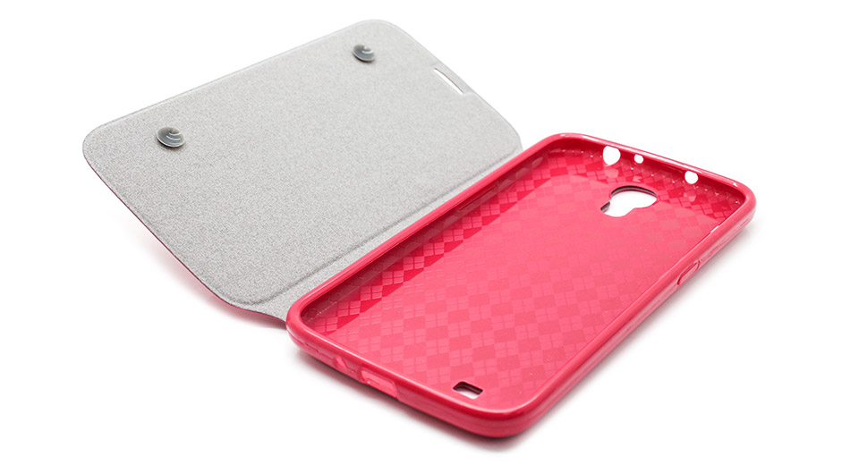 Protective PU + PVC Flip-Open Case for Samsung i9200 ro