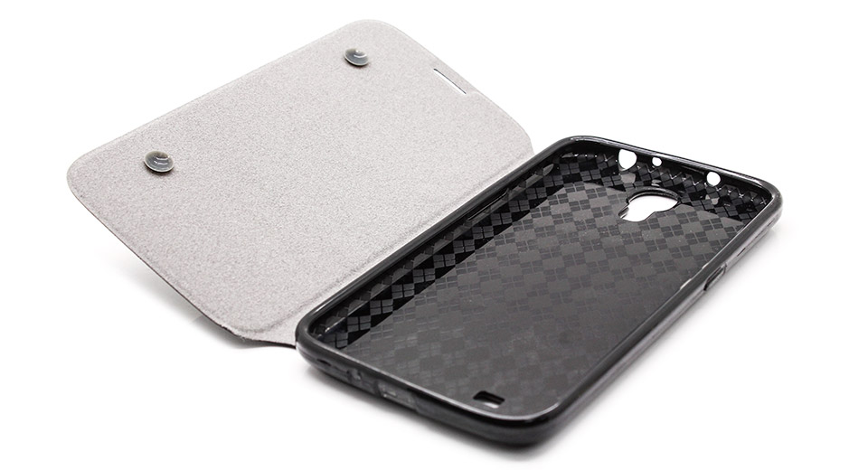 Protective PU + PVC Flip-Open Case for Samsung i9200 bl