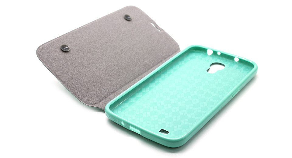 Protective PU + PVC Flip-Open Case for Samsung i9200 gr
