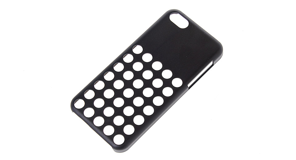 Protective PVC Hollow Out Back Case for iPhone 5c black
