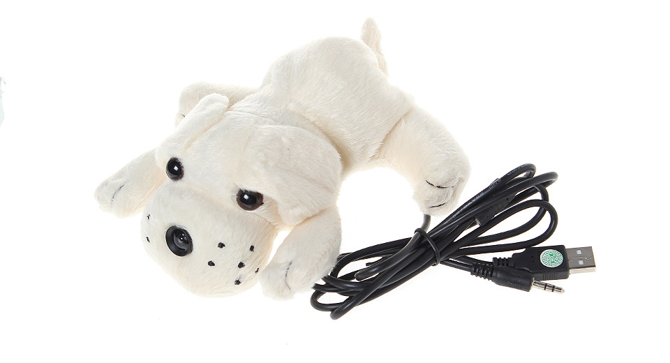 Cute Puppy Style USB 2.0 12 MP Webcam w/ Microphone for