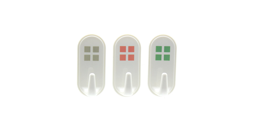 Strong Wall Sticky Hanging Hook (3-Pack) white / 1.5kg