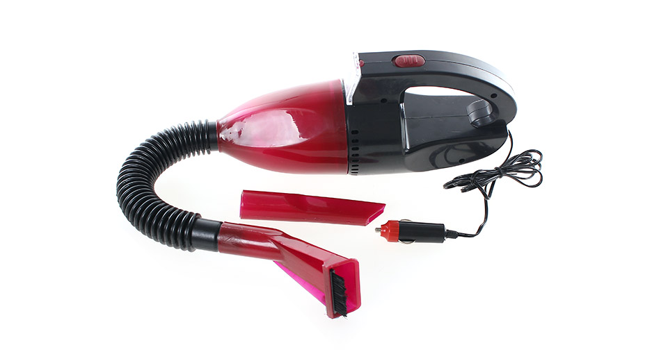 Portable Car Electric Vacuum Cleaner W LED Light And Charger