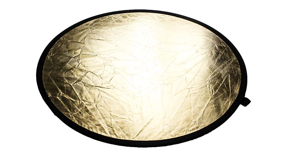 110cm Double-Faced Collapsible Light Reflector gold / s