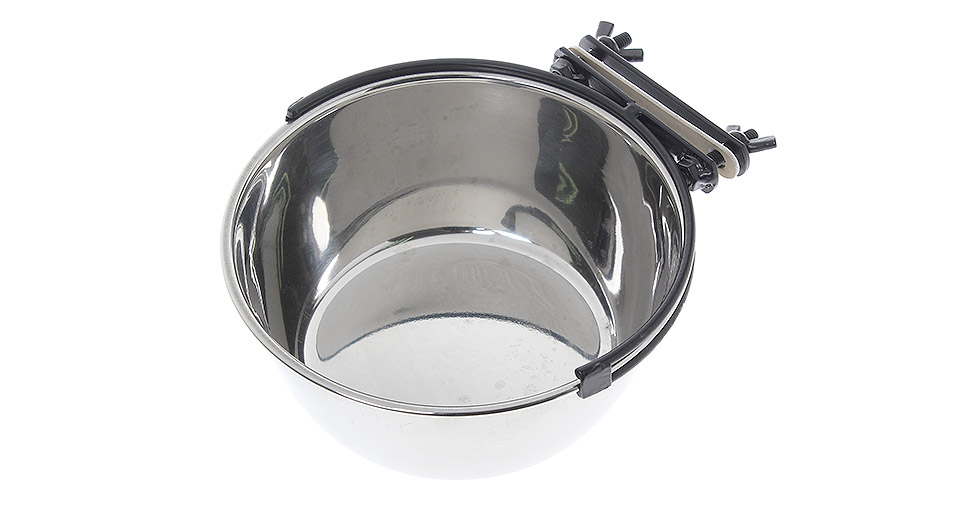 Stainless Steel Bowl for Pet Dogs Cats silver