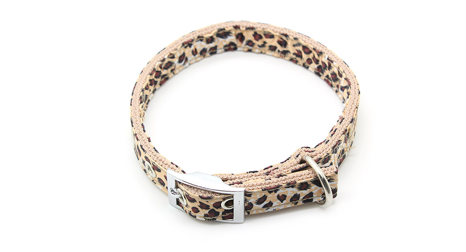 Product Image: leopard-pattern-style-adjustable-nylon-collar-for