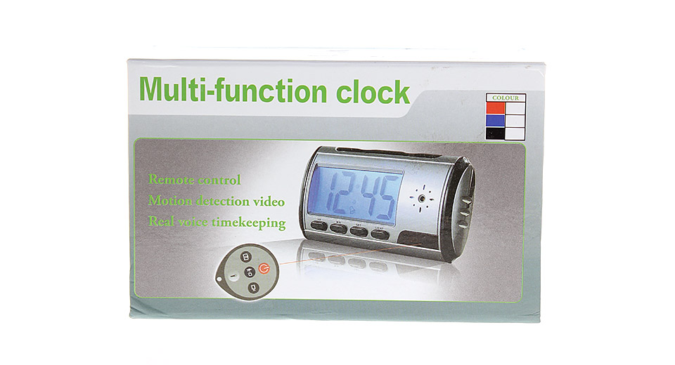 2-in-1 Digital Alarm Clock Motion Detection Hidden Spy DVR Camera