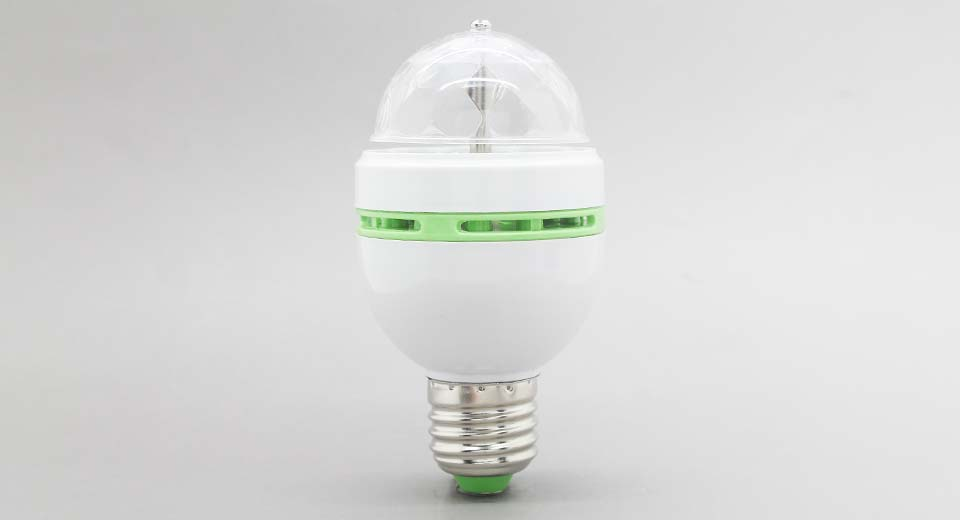 E27 3W 3*LED 180LM RGB Light Bulb
