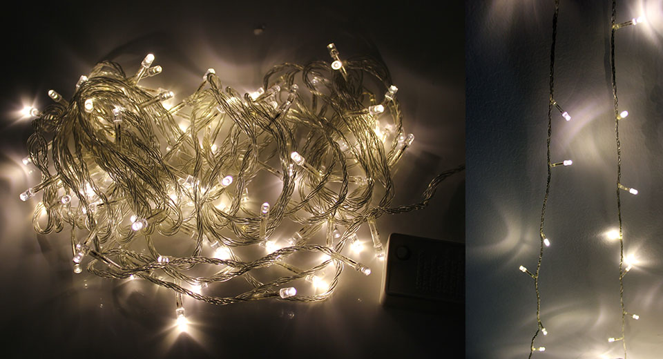 USD 5.52 Decorative 100-LED String Fairy Lights for Wedding / Christmas Party (10m) - white light ...