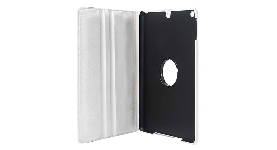 360 Degree Rotatable Protective PVC + PU Case for iPad
