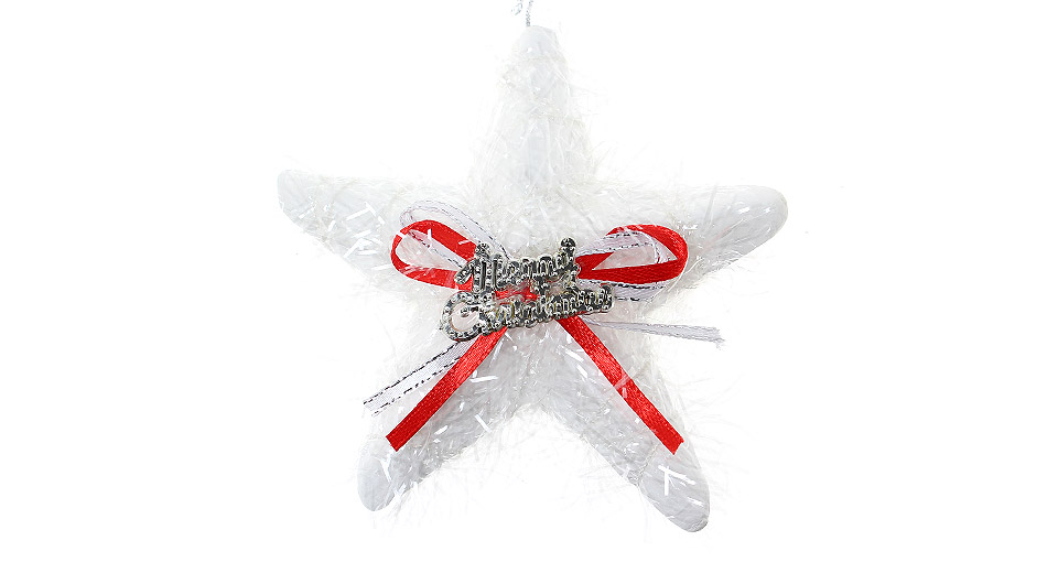 Festive christmas tree decoration pentagram string ornaments red white at fasttech - String ornaments christmas ...