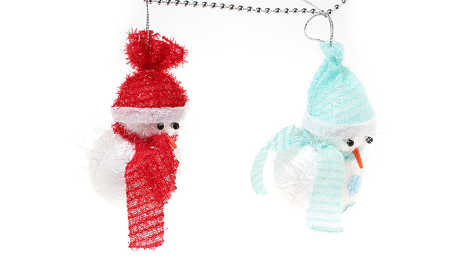 Festive christmas tree decoration snowman string ornaments multicolor at fasttech - String ornaments christmas ...