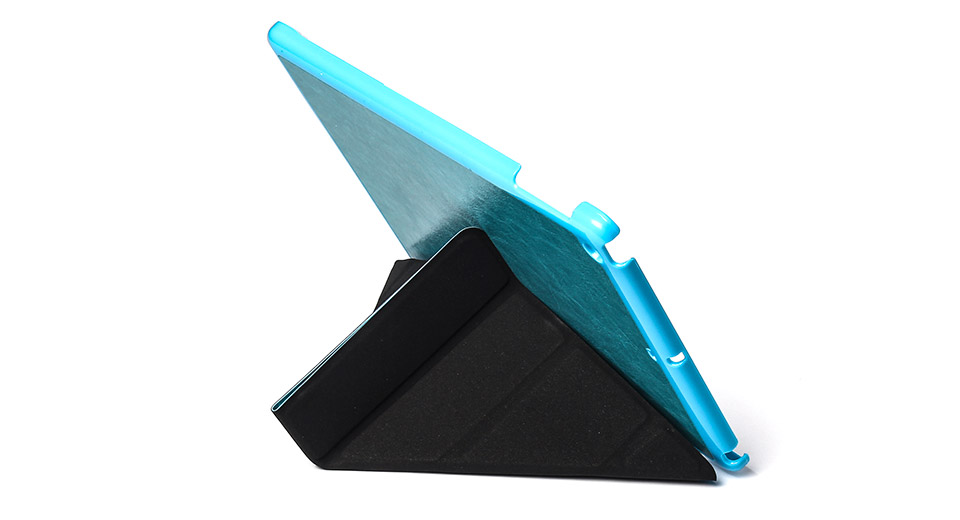 Protective PU + PVC Flip-open Support Case for iPad Air